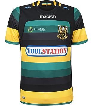 952ece6ed3e Northampton Saints M17 Rugby Poly SS Match Day Home Kids Jersey: Amazon.co. uk: Sports & Outdoors