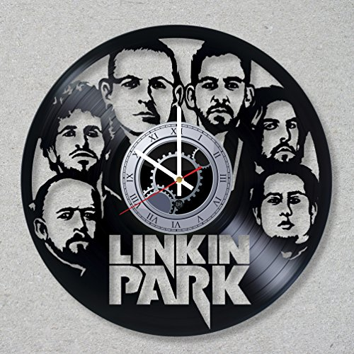 Vinyl Record Wall Clock Linkin Park Music Rock Bennington Hybrid Theory Numb Chester decor unique gift ideas for friends him her boys girls World Art Design