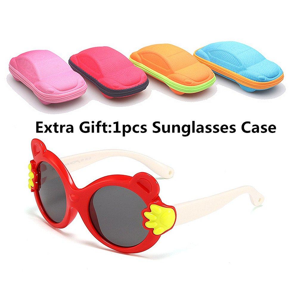 982db6ea69 Color : Negro Ju-sheng Diseño de Dibujos Animados Niños Lindos Gafas de Sol  Lentes polarizadas Protección UV Niños y ...