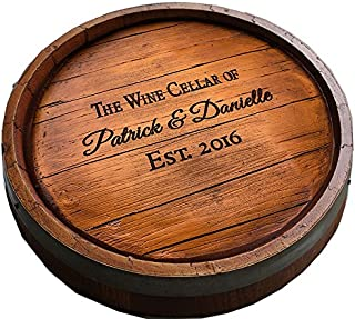 product image for Wine Quarter Barrel Personalized Lazy Susan