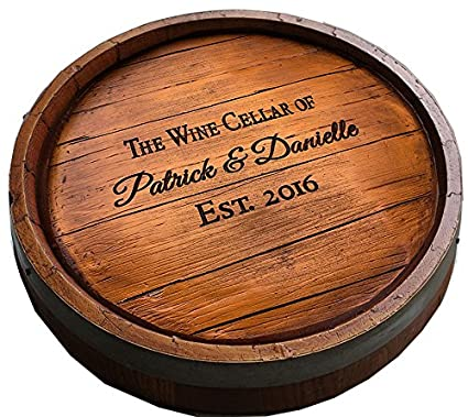Amazoncom Wine Quarter Barrel Personalized Lazy Susan