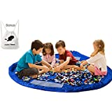 BXT New Portable Large Size Easy Tidy Play & Storage Mat Toy Storage Bag Organizer Perfect for Lego Duplo other Children's Toys for Faster Cleanup--Blue, Dia 150CM