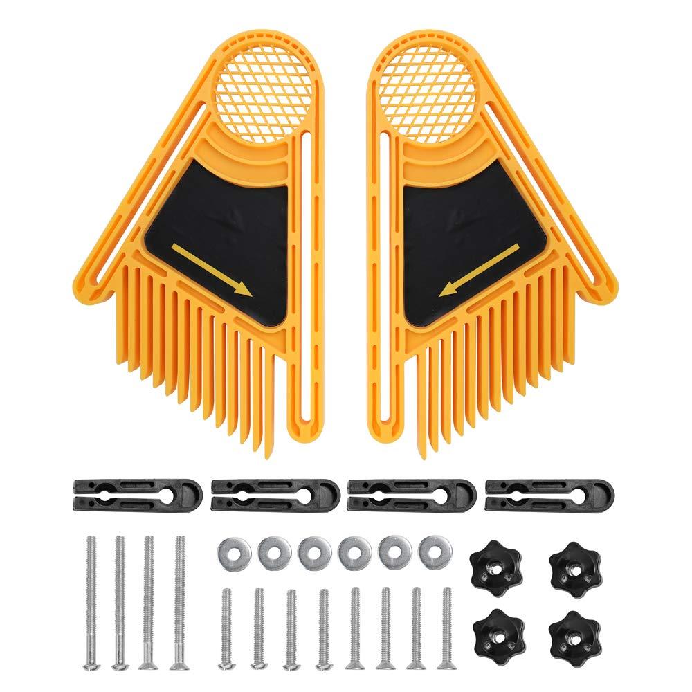 KKmoon Tablero de Madera de Pluma Tabla para Sierras de Mesa para Carpinter/ía,Dobles Ranura de Calibrador de Inglete DIY para Enrutador y Mesa Tablas Vallas