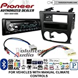 Volunteer Audio Pioneer DEH-S6010BS Double Din Radio Install Kit with Bluetooth, Sirius XM, CD Player Fits 2007-2013 Nissan Altima (Manual Climate Controls)