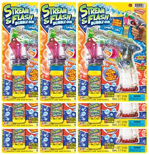 JA-RU Fun Bubbles Stream /& Flash Party Favor