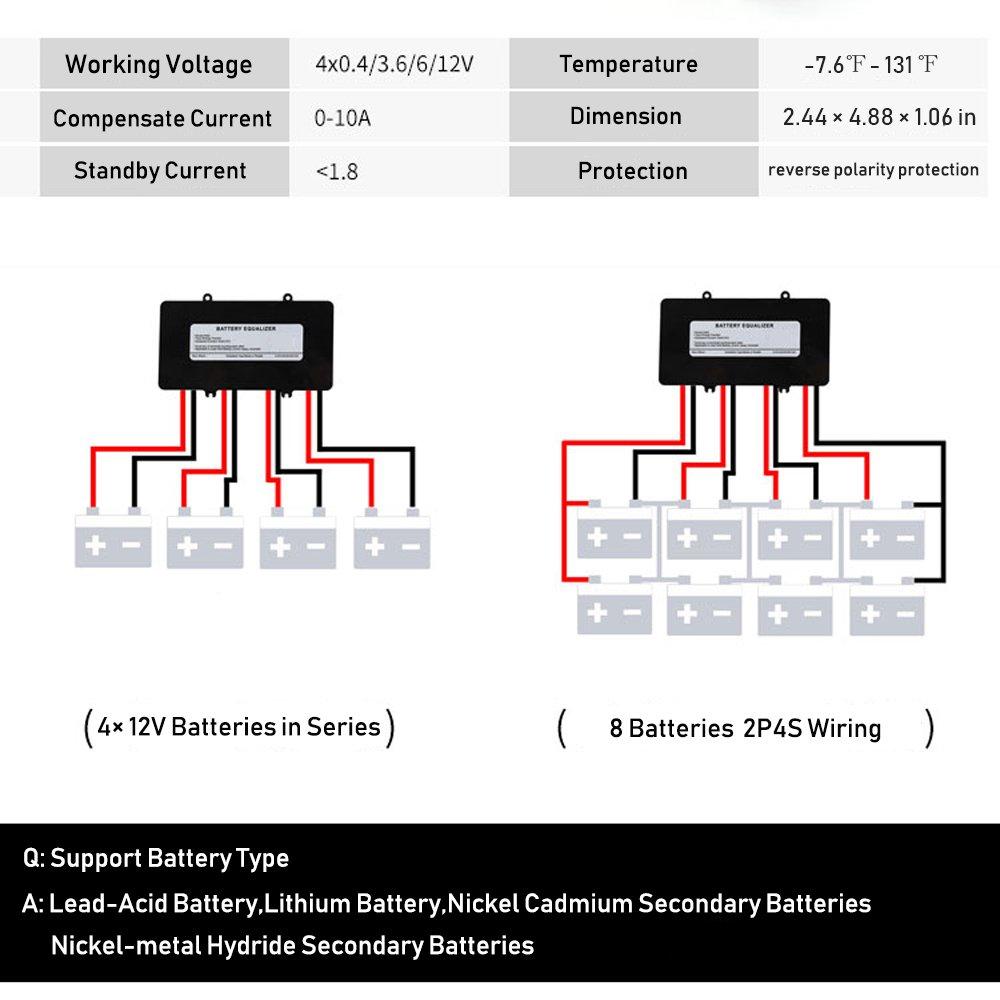 Battery Equalizer 48v Voltage Balancer Max 4 18650 Series Wiring Diagram 12v Bank Extend Life 1 Year And More Support Gel Flood Agm Lead Acid