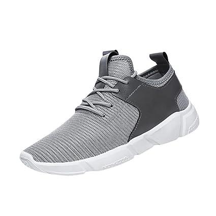 XINANTIME - Zapatillas de deporte con correas de hombre de moda Zapatillas Casual Zapatillas Sólidas (