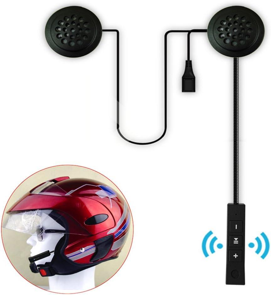 Casco de motocicleta con audífonos de intercomunicador inalámbricos para casco de motocicleta, con Bluetooth, para casco, auriculares, manos libres, control de llamadas de música