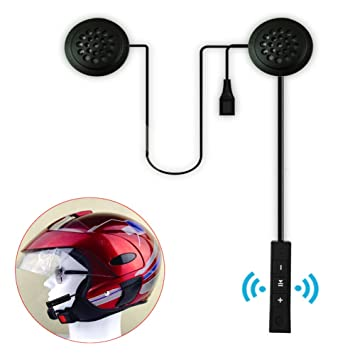 Casco de motocicleta, casco de moto anti-interferencia, auriculares inalámbricos con Bluetooth intercomunicador