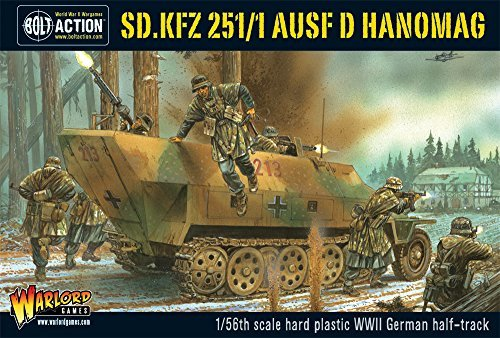 Bolt Action Sd.Kfz 251/1 Ausf D Hanomag German Half-Track 1:56 WWII Military Wargaming Plastic Model Kit