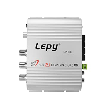 XCSOURCE Amplificador de potencia de audio estéreo de 12V para automóvil multifuncional Hi-Fi 2.1 Subwoofer de amplificador de bajo nivel de 3 canales ...