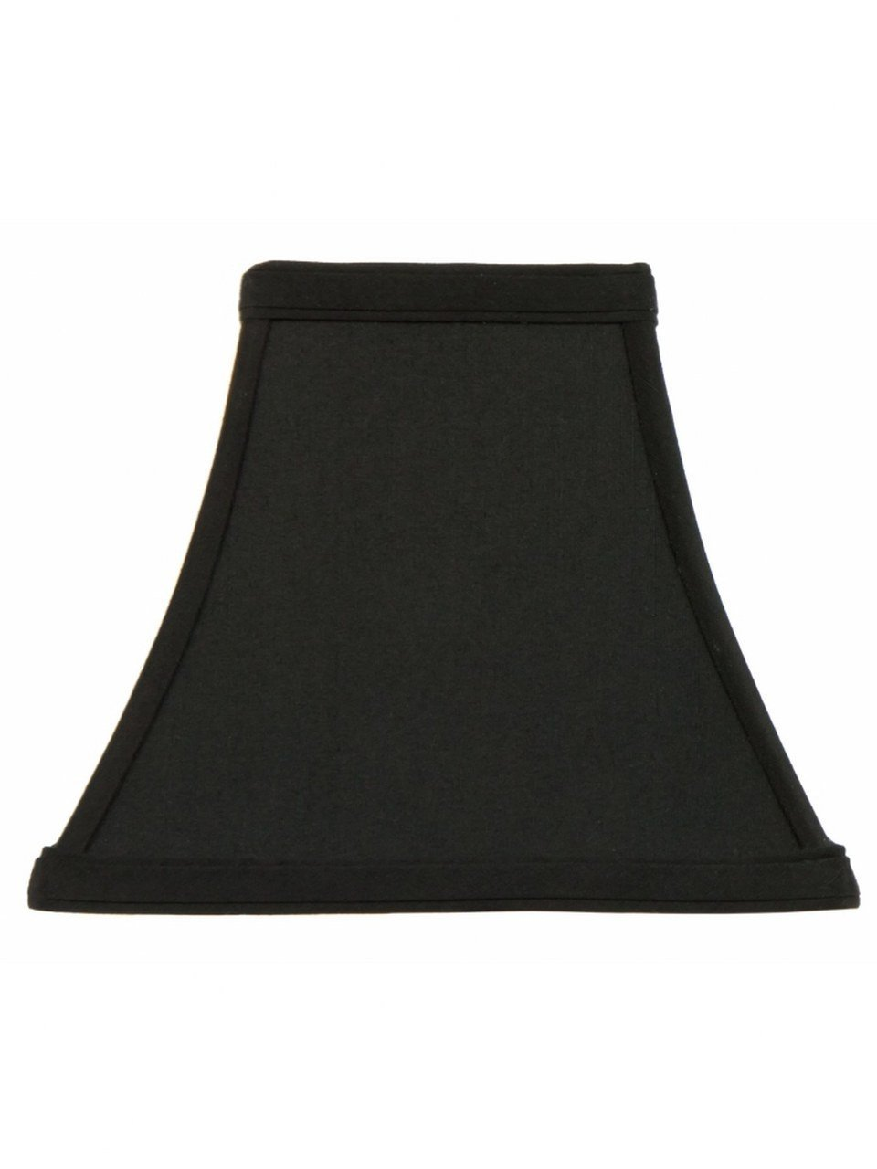 Upgradelights 12 Inch Black Silk Tapered Square Bell Lampshade Replacement (6x12x10)