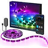 DreamColor LED Strip Lights with APP, Govee 6.56FT/2M USB RGBIC Light Strip Built-in Digital IC, 5050 RGB Strip Lights…