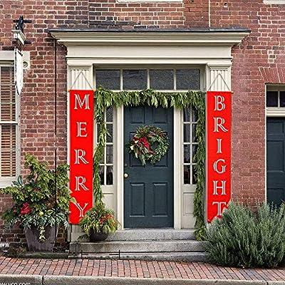 Amazon.com: Decoración de Navidad, cartel de porche ...
