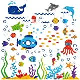 The Deep Blue Sea Decorative Peel & Stick Wall Art Sticker Decals Picture