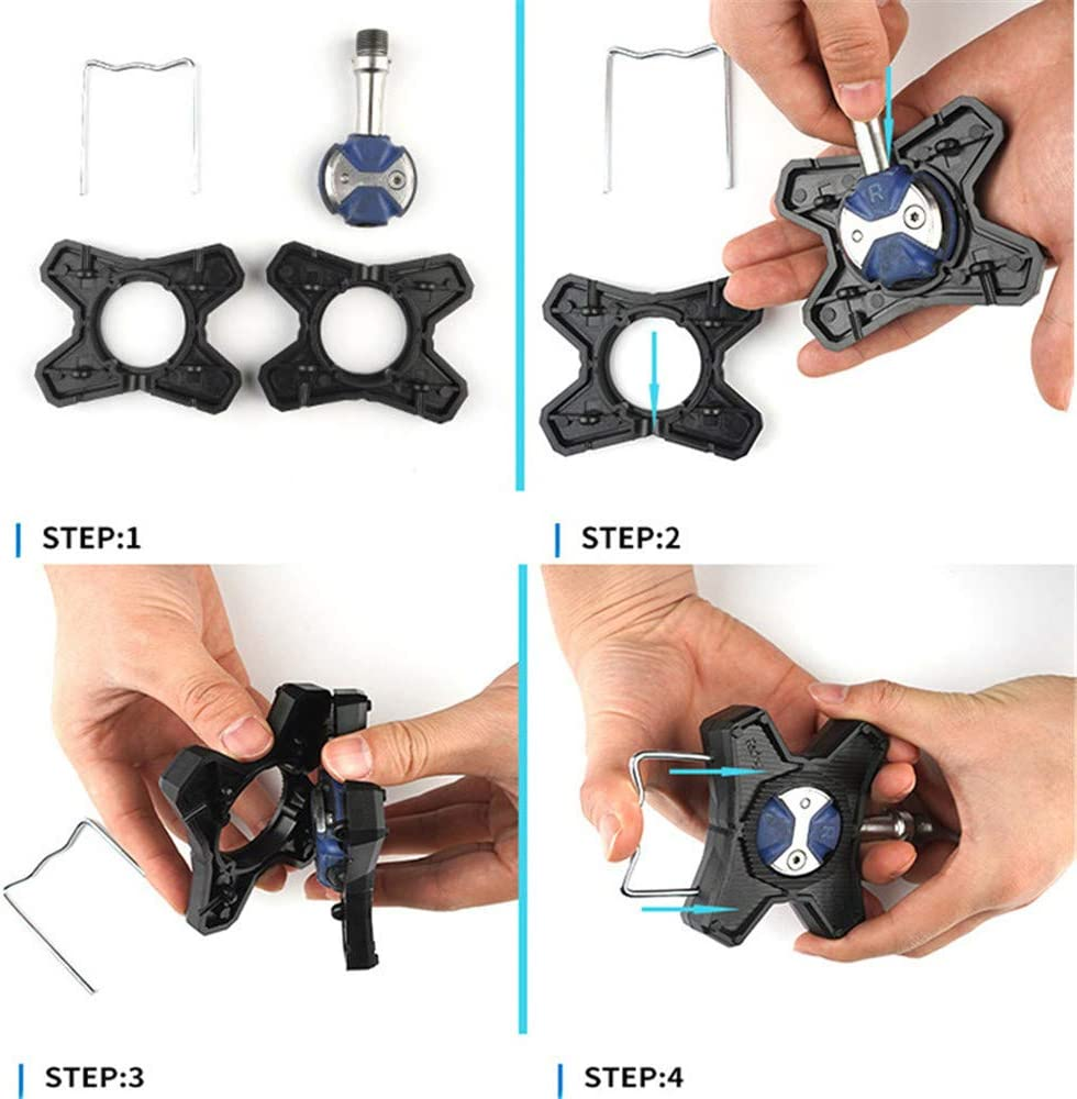 For Speed play Pedals Adapter 1 Pair ABS Bicycle Pedals Bracket Flat X8K9