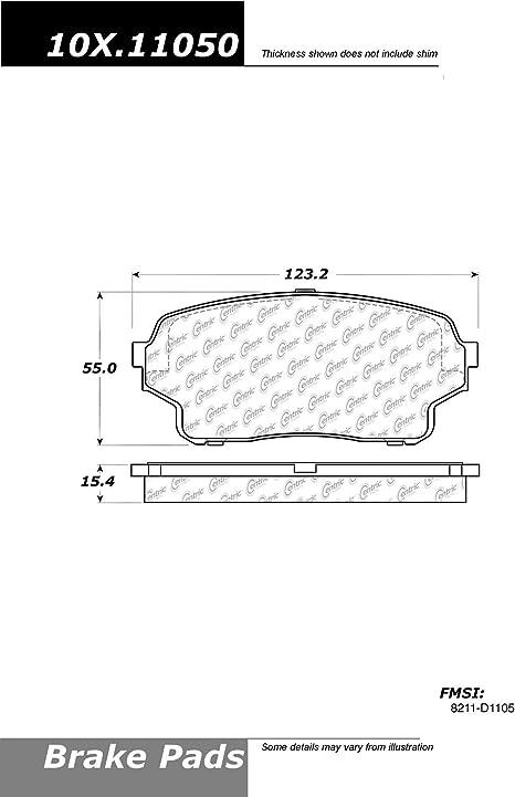 Centric Parts 104.10440 104 Series Semi Metallic Standard Brake Pad
