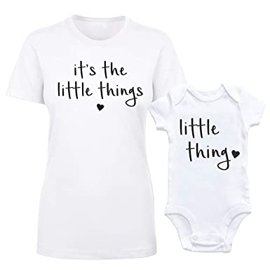 f55b58d5 Amazon.com: GOMOYO It's The Little Things Bodysuit Newborn Girl Boy Infant  Outfits Matching Mommy and Me Clothes: Clothing