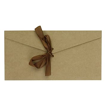 10 Pack Ribbon Buckle Envelopes Kit 87quotx43quot For Holding Photos