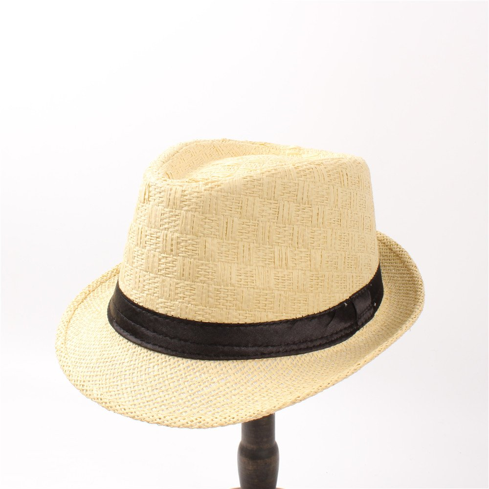 ZITEZHAI-hat Straw Women Men Summer Travel Boater Beach Fedora Hat Summer Straw Hat Sun Hat Beach Hat Sunbonnet for Women Men (Color : 2, Size : 58CM)