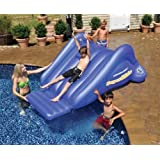 New Shop Swimline Super Water slide Kids Inflatable Swimming Pool Game 99-inchx68-inchx4