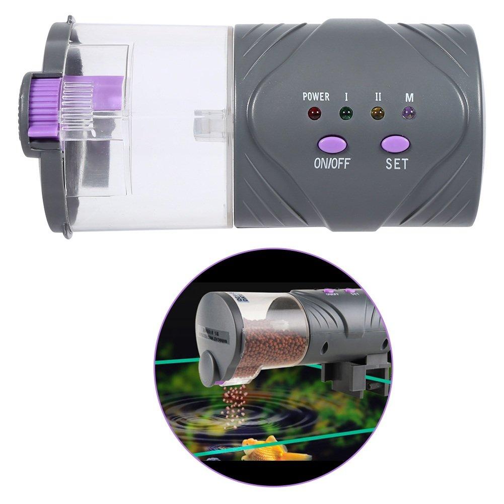 Yosoo Distributeur de Nourriture de Poisson d'Aquarium Réservoir Automatique Alimentateur de Poisson Numérique DC Micro-moteur LEPAC9956