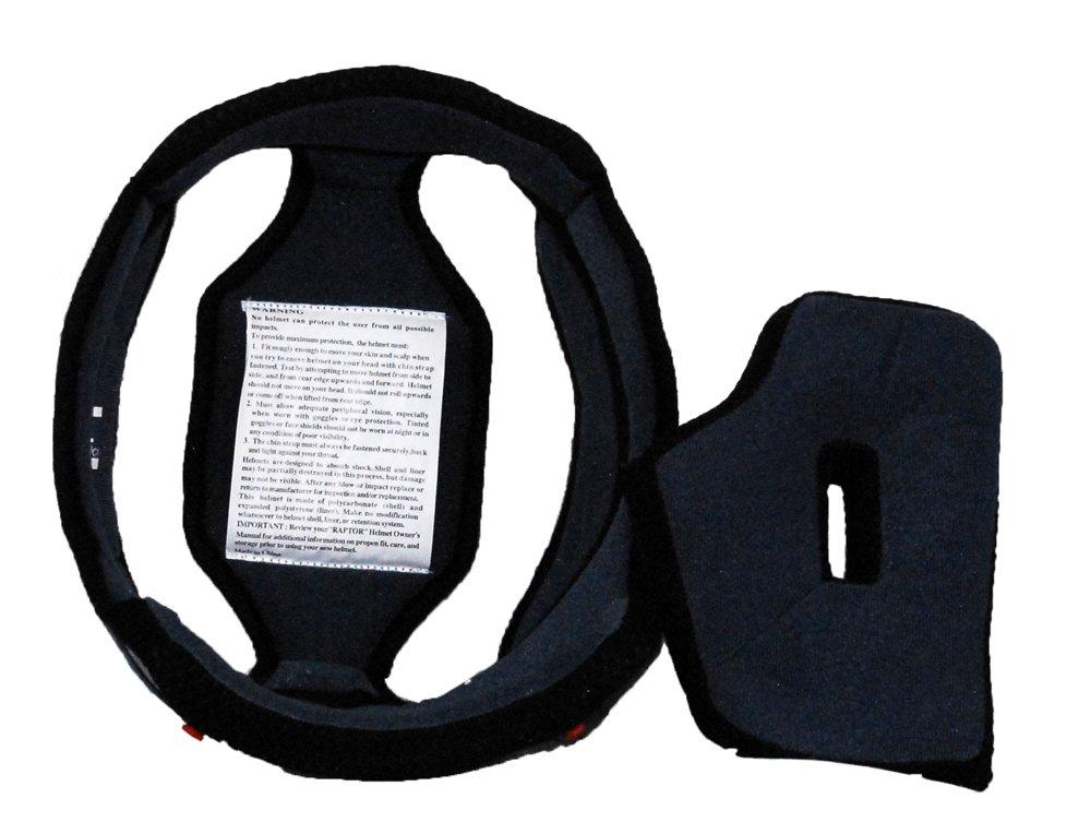 Blue//Black, Large Raptor Open Face Helmet Liner