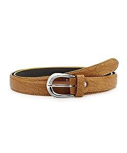 Verceys Trendy Tan Leather Finish Belt For Women - Free Size