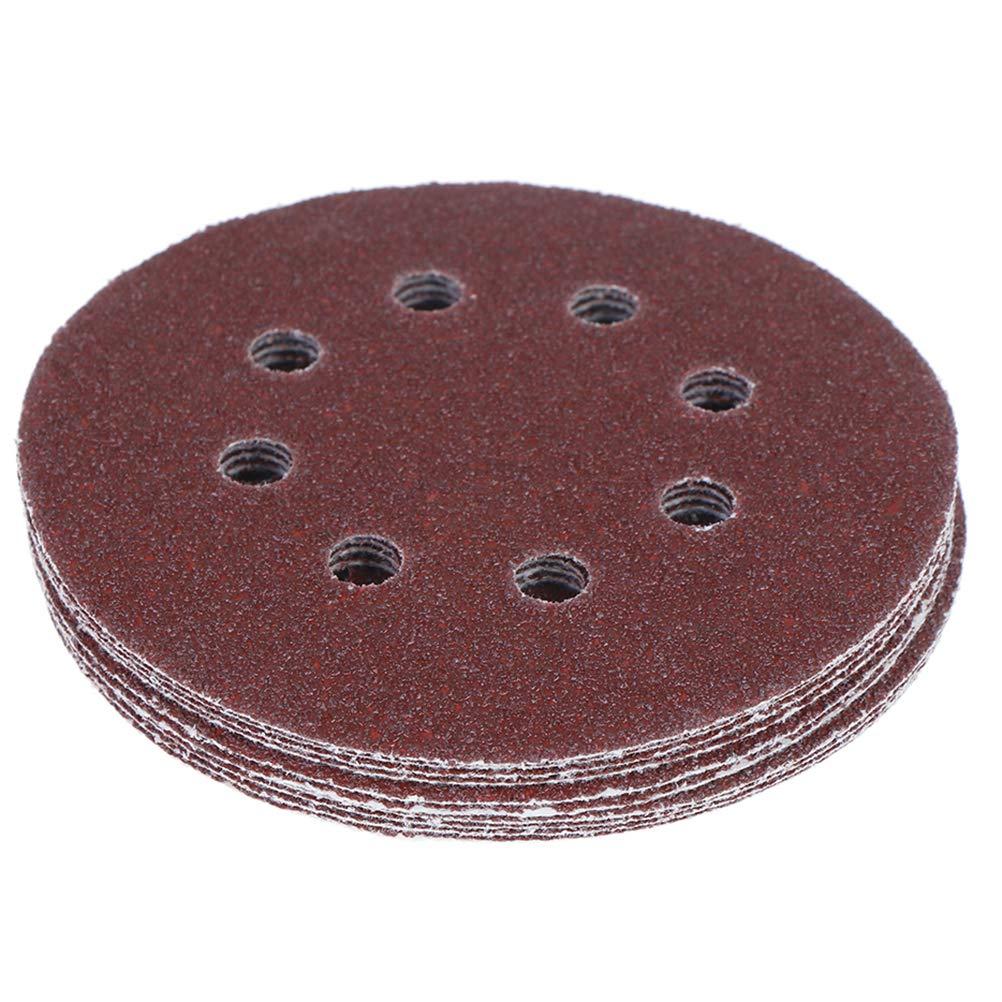 10 Pcs Sanding Discs Pads 125mm Orbital Sanding Discs 5 inch 8 Holes 40//60// 80//100// 120//240// 320//400// 800 Grit Hook and Loop Sanding Discs for Orbital Sander