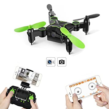 GizmoVine 901H Mini Drone con Cámara HD 0.3MP FPV WiFi Plegable ...