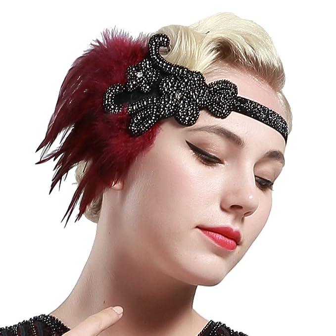 heiß-verkaufendes echtes bester Verkauf riesiges Inventar BABEYOND 1920s Feder Stirnband Retro 20er Jahre Haarband Flapper Stirnband  Damen Great Gatsby Kostüm Accessoires