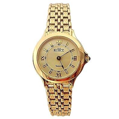 Reloj oro 18k Royce mujer redondo panter brillo liso mate [AB4264] - Modelo: 6598: Amazon.es: Joyería