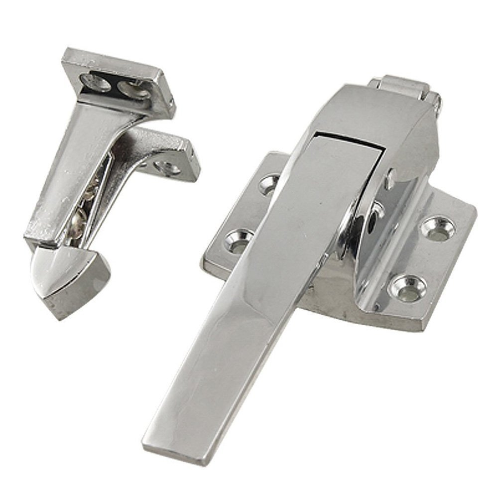 TOOGOO(R) Stainless Steel Spring Loaded Walk In Freezer Cooler Door Handle Latch