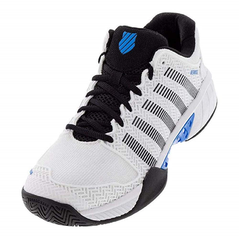 K-Swiss Men's Hypercourt Express Tennis Shoe (White/Black/Brillant Blue, 9.5) by K-Swiss