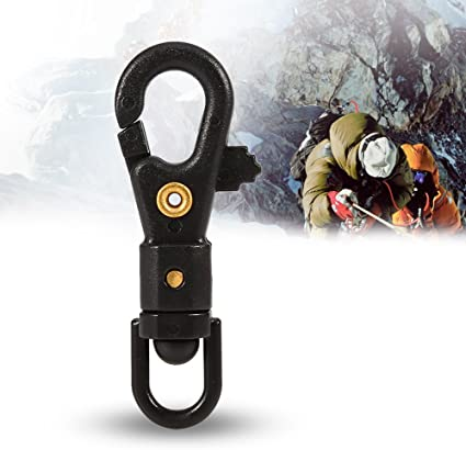 Jinsully Durable EDC Mini SF Spring Backpack Clasps Climbing Carabiners Keychain Camping Bottle Hooks Paracord Tactical Survival Gear