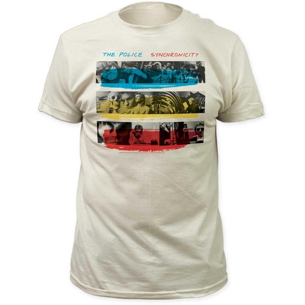 Police - Synchronicity équipée Jersey T-Shirt, X-Large, Vintage White