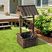 Outsunny Accent Rustic Wishing Well Fountain