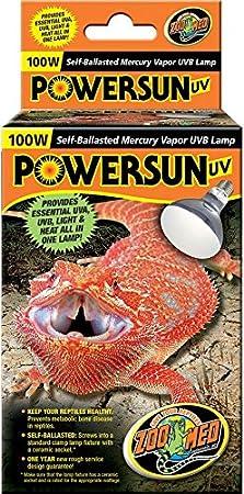 Zoo Med PowerSun UV Mercury Vapor Lamp (100 Watt) PUV11