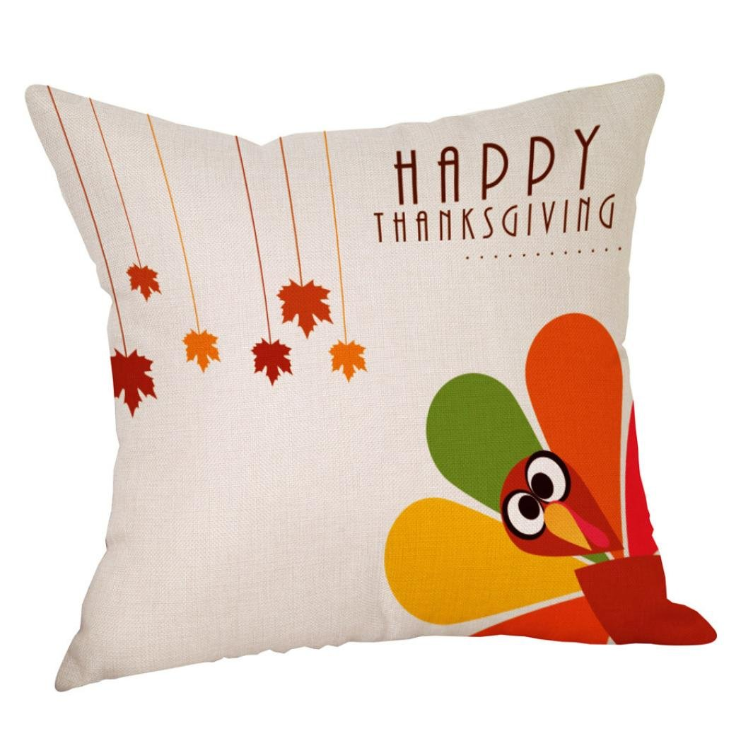 Ronamick Happy Fall Thanksgiving Day Leinen Türkei Kissenbezug ...