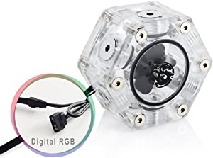 "Bitspower G1/4"" Hexagon Flow Indicator, Digital RGB"