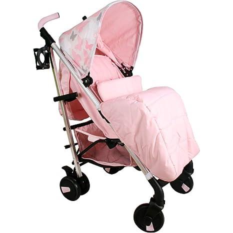 Mi Babiie Katie Piper mb51 rosa mariposas cochecito: Amazon ...