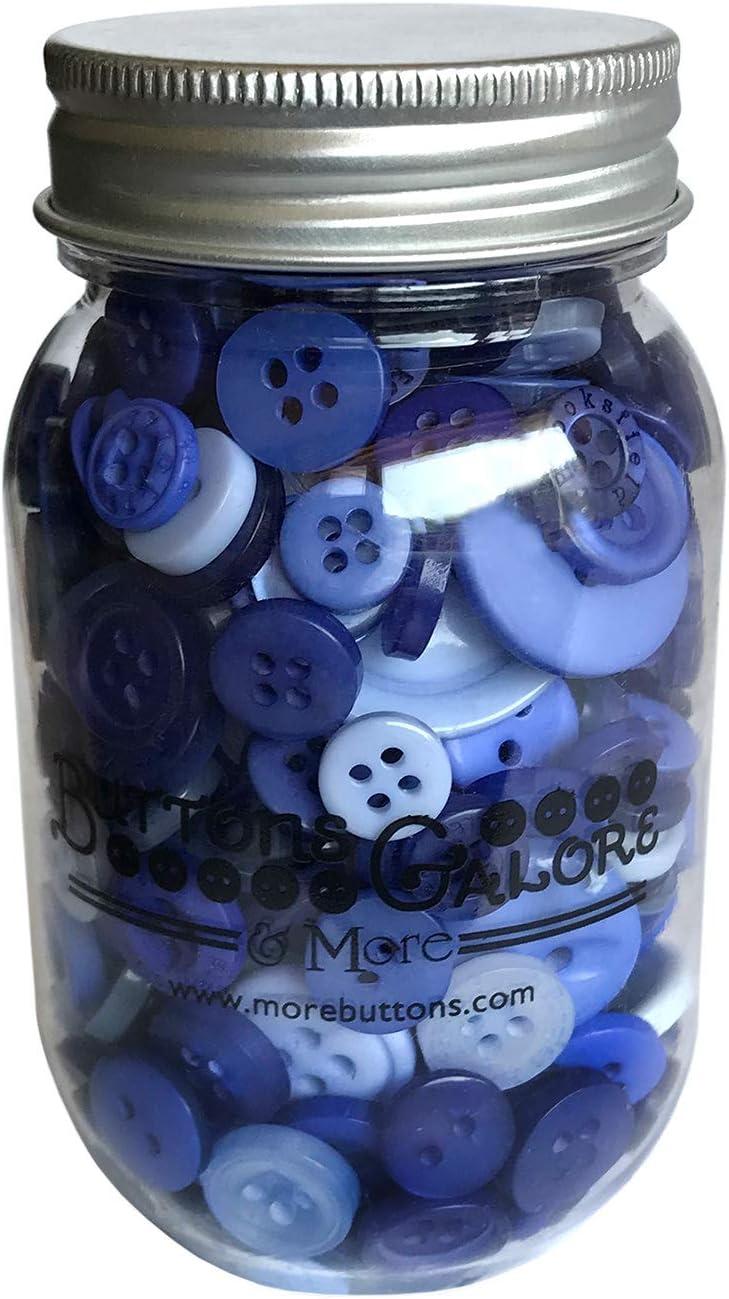 Buttons Galore Periwinkle Garden Buttons Mason Jar