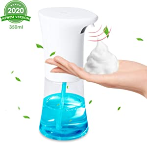 OTUOER Automatic Soap Dispenser, Hand Free Auto Foaming Soap Dispenser 12 oz/350ml, Infrared Motion Sensor Touchless Soap Dispenser Battery Operated, Long Standby for Bathroom Toilet Kitchen Office