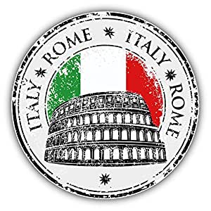 Amazon Com Rome City Italy Flag Grunge Travel Stamp Car