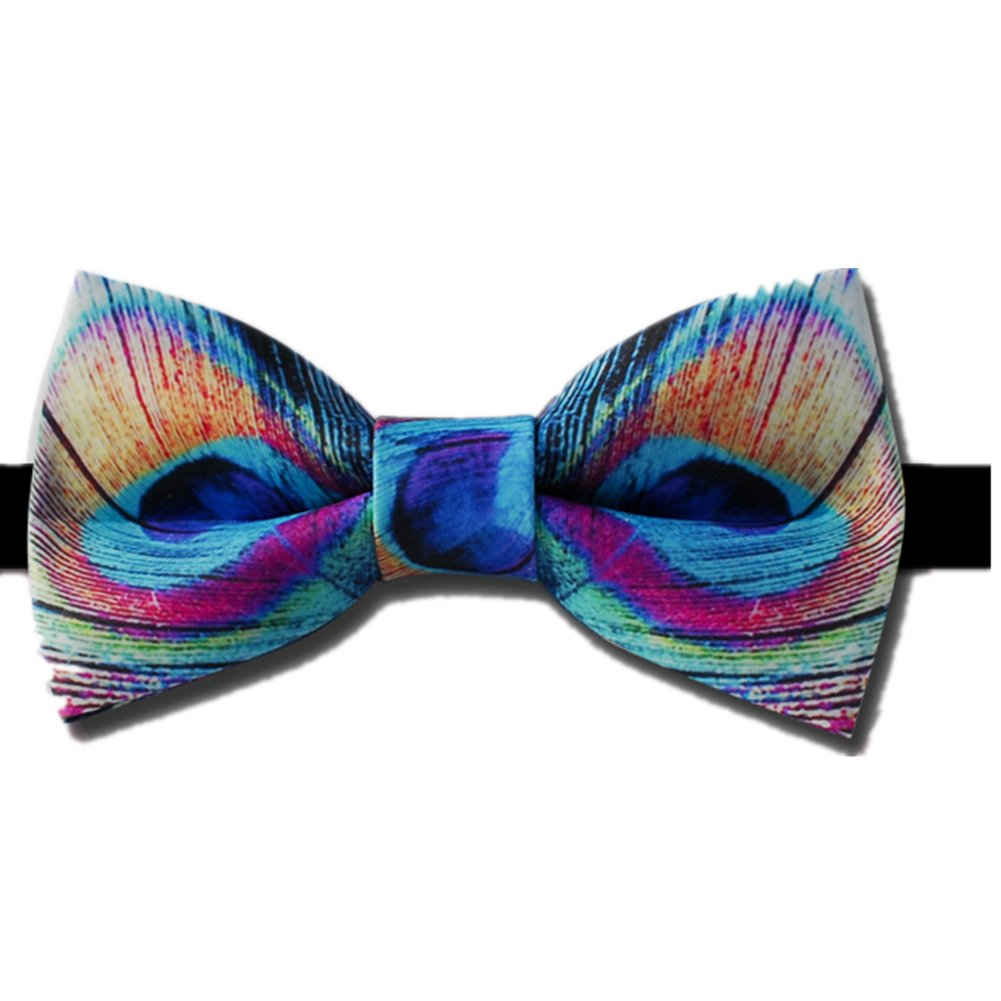 Men' Bow Tie Peacock Pattern