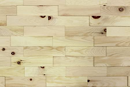 Wood Wall Cladding Stone Pine| 1m² Decorative 3D Wall Panels | Solid ...