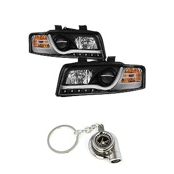 Amazon.com: Audi A4 faros delanteros halógenos modelo solo ...