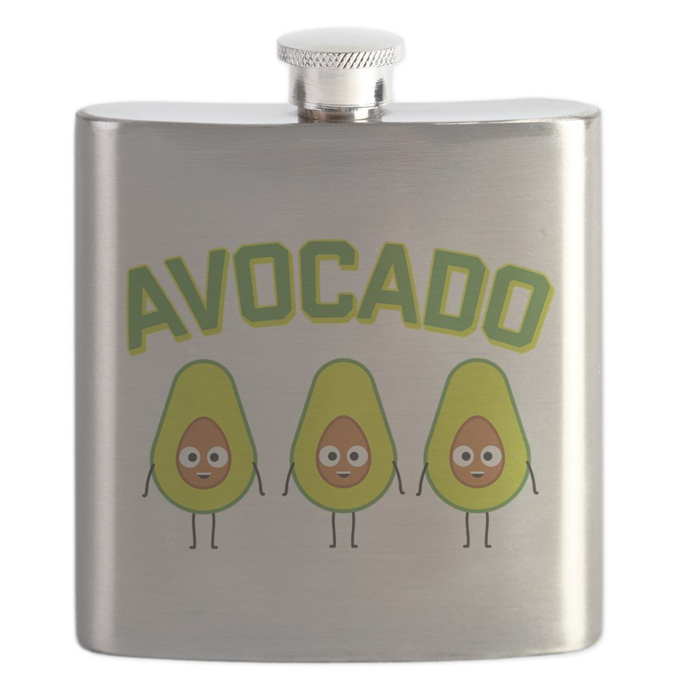 6f3608d16c Amazon.com | CafePress - Avocado - Stainless Steel Flask, 6oz Drinking  Flask: Flasks