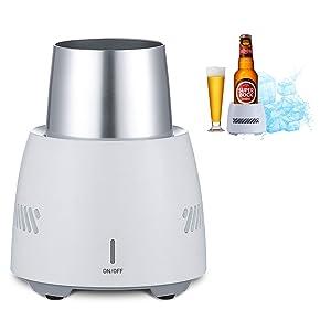 The perseids Beverage Can Cooler, Desktop Beer Bottle Insulator Refrigerator Cooling Cup for Beer, Cola, Juice, Wine and Drinks - Sunken Design & Intelligent Refrigeration