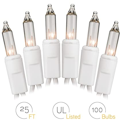 onh christmas lights 100 count clear mini string lights set for room garden holiday